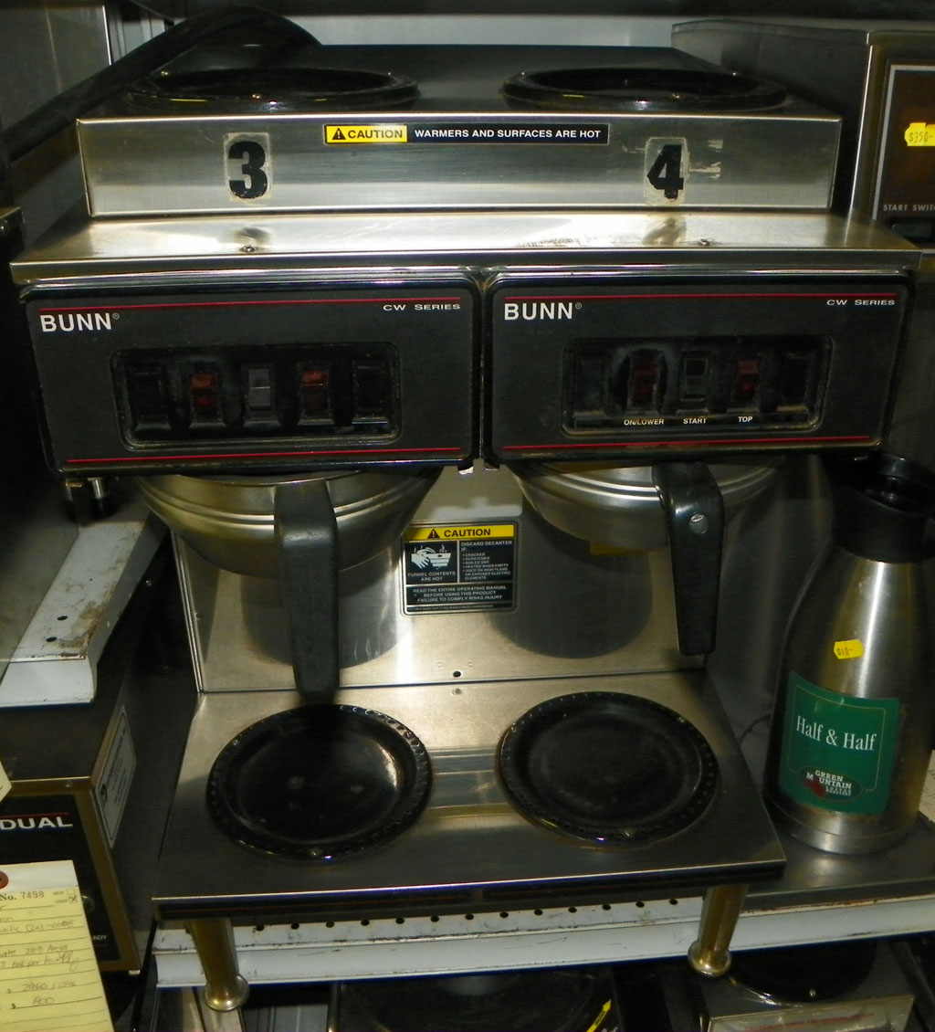 Coffee Equipment Petes Restaurant Bunn Cw Series Wire Diagram Used Urn Brewer