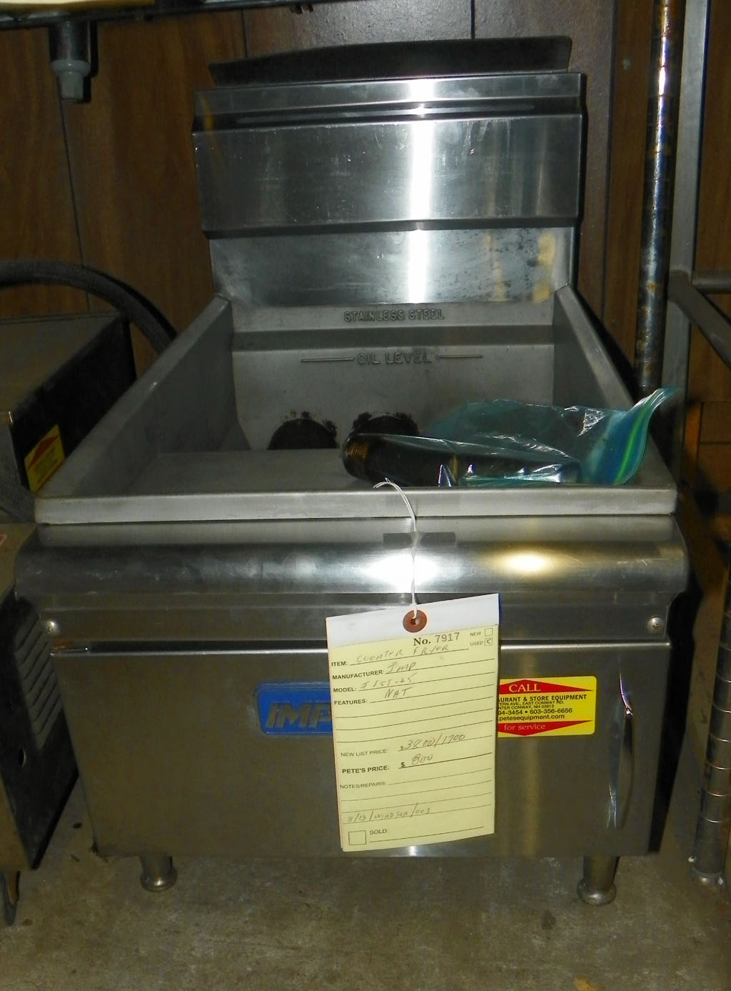 Used Imperial Used Imperial Countertop Fryer - IFST-25