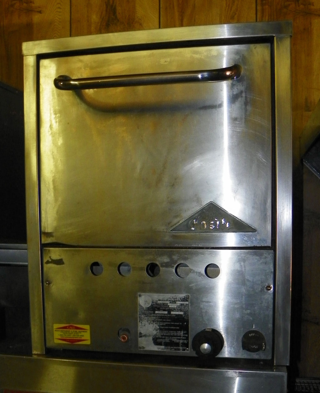 used comstock castle used countertop gas pizza oven p018 - Countertop Pizza Oven