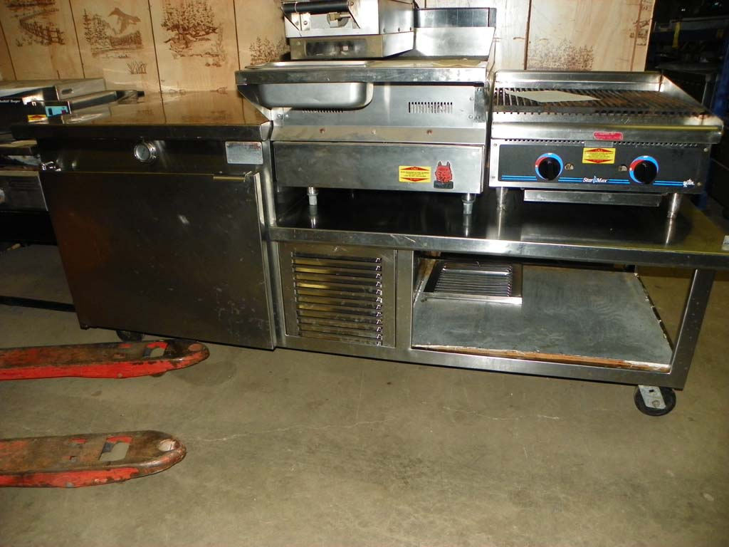Used Combination Cooler Equipment Stand Pete S