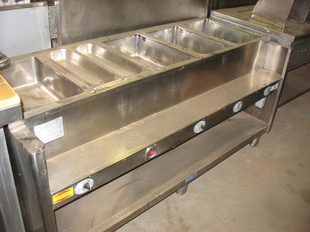 used seco-matic used seco-matic 5 bay electric steamtable
