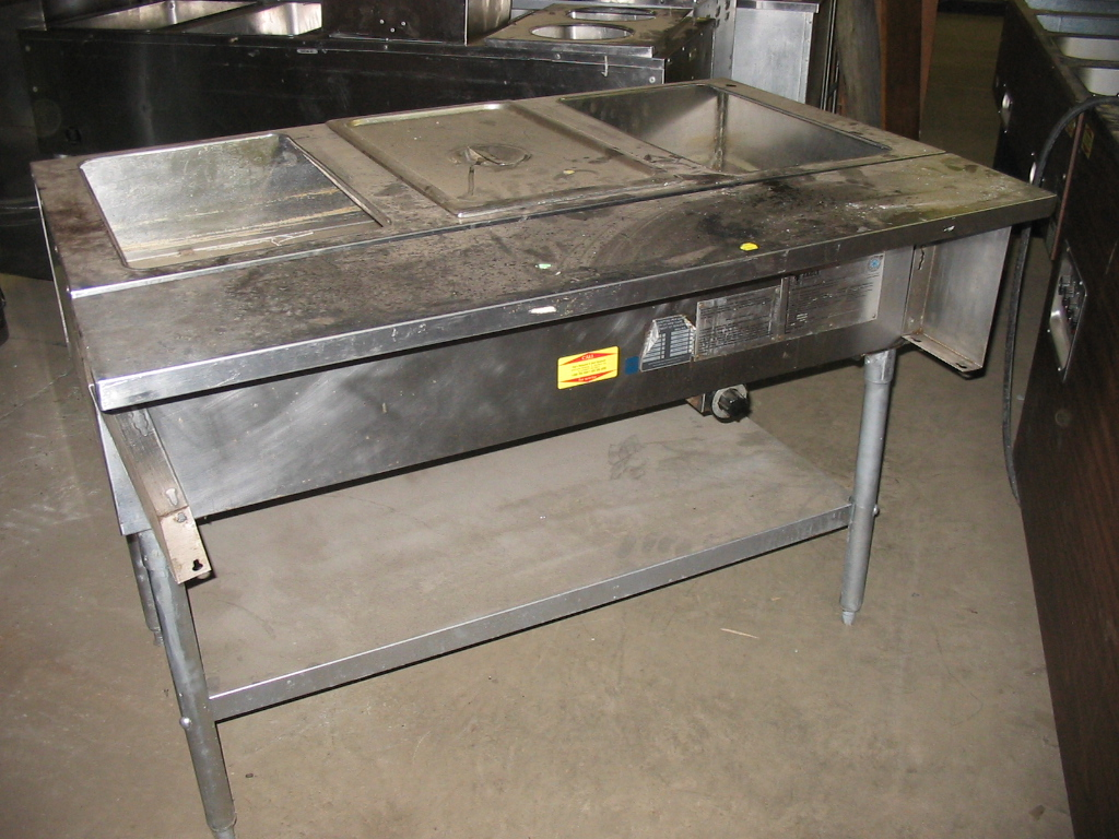 Used General Electric Used Well Steam Table Petes Restaurant - 3 bay electric steam table