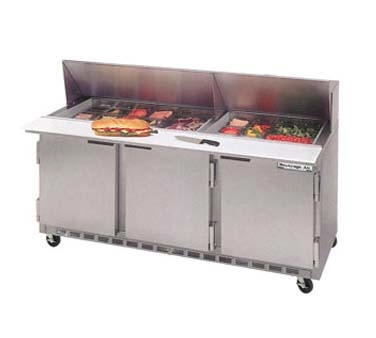 "New Beverage Air 72"" Megatop Sandwich Unit - SPE 7230-M"