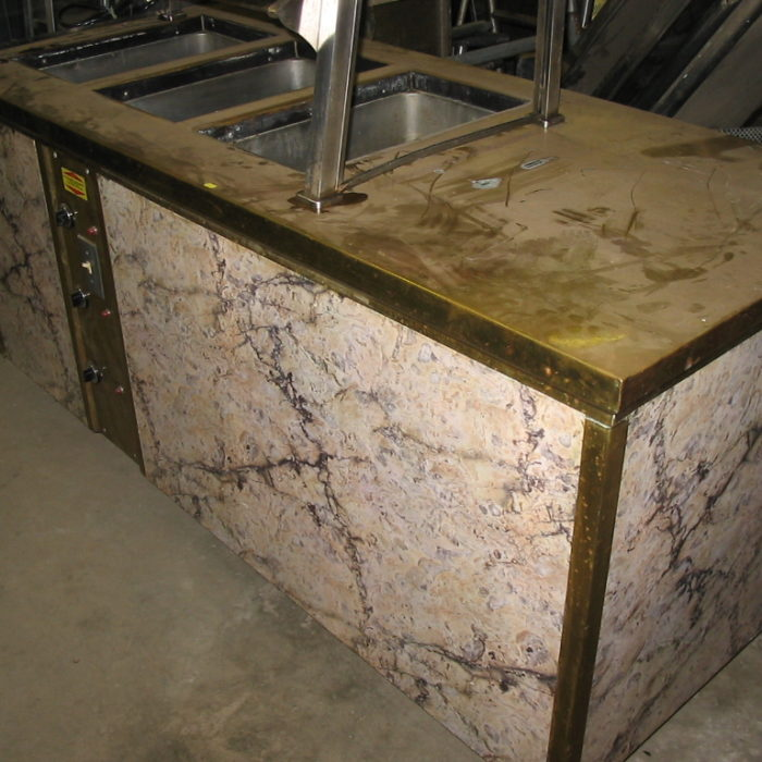 Used Wells Used 3 Bay Electric FOH steam table -